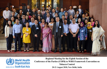 Regional Meeting for the Eighth Session of the Conference of the Parties of the WHO-FCTC