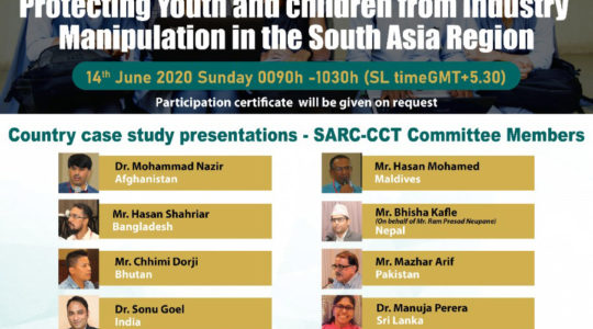 Webinar 2: Protecting Youth and children from Industry Manipulation in the South Asia Region