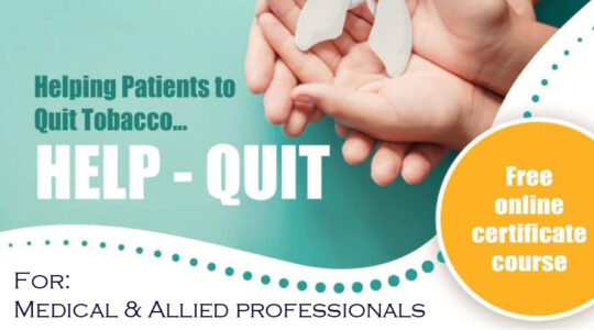 CCT completes the Cycle 1 of HelpQuit - The WHO-CCT Online Smoking Cessation Course